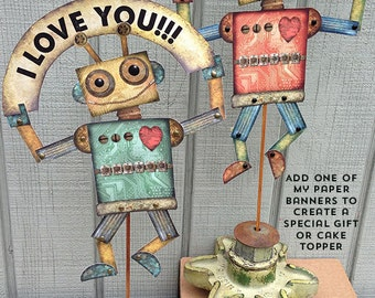 Paper Robots, Robot download, Robot Craft Printable, Robot digital download, Teacher Robot Craft, Robot Card DIY,  Robots, RobinDavisStudio