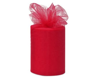 6 inch x 300 foot Nylon Tulle Roll - RED or Your Choice of 50 Colors-**On Sale Now **