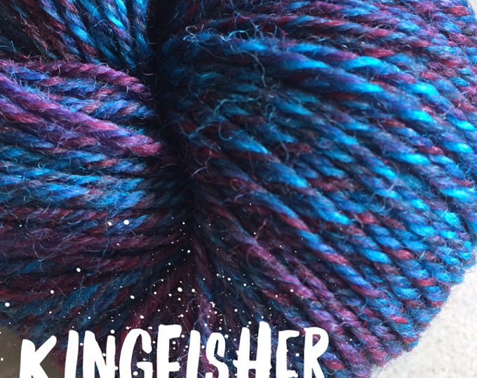 Elements Collection - Col Kingfisher Blue 4 ply supersoft 100% Merino