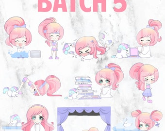 Batch 5 - Lolly and Pop 01 (Kawaii Planner Stickers)