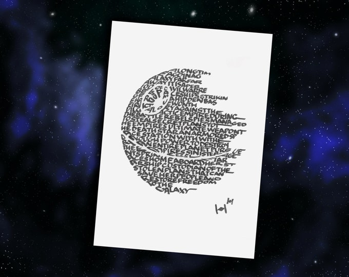 The Deathstar - A Limited Edition Print of a Hand Lettered Image