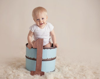 """First Birthday Photo Prop - 15"""" Wooden Number One - 1st Birthday - Wooden Number Prop"""