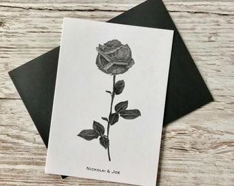 Stem Rose Notecard / Postcard