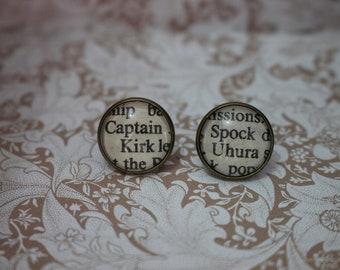 Captain Kirk ~ Spock ~ Uhura Earrings ~ Star Trek ~