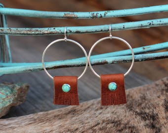 Rocky Point Brown Fringe Earrings