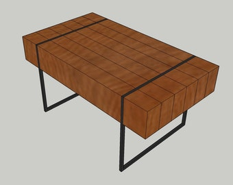 BLUEPRINT PLANS For Block Coffee Table With Hidden Storage. Please Read  Description Prior To Purchase