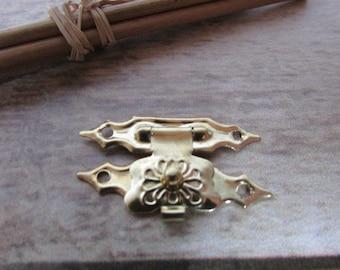 Box 3 clasp 2 x 1.8 cm metal color gold decor box... 421.2