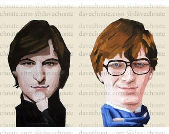 Steve Jobs and Bill Gates Art Photo Print