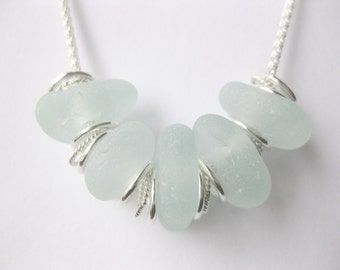 SS seaglass jewelry Seaglass sterling beach Glass necklace Beach Glass Jewelry