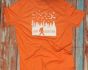 Bigfoot t shirts etsy for Custom shirts fast delivery