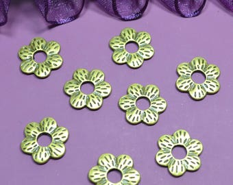 10 beautiful rings flowers 15mm