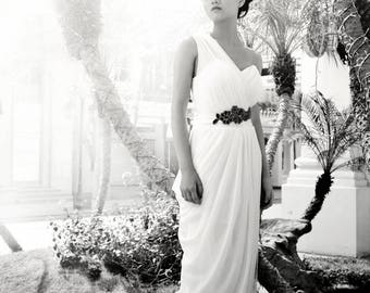 LS64/Athena/ silk chiffon weddingdress / beach weddingdress