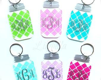 Mason Jar Keychains, Mason Jar, Key Chains, Personalized Keychains, Acrylic Keychains, Monogrammed Keychains, Key, Party Favors