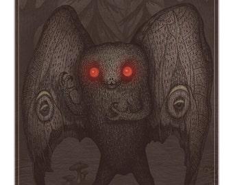 Mothman -  A4 art print