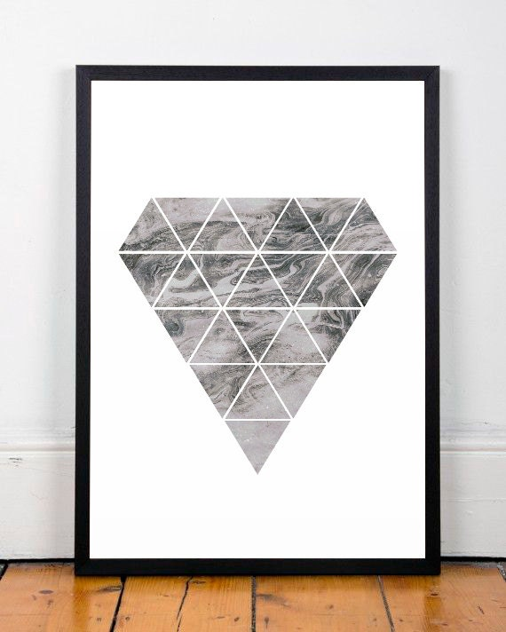 Diamond print diamond wall art pattern poster marble art