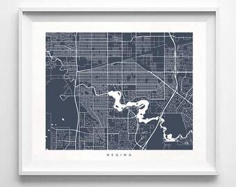Regina Map, Canada Print, Regina Poster, Canada Art, Arty Print, Holiday Gift, Playroom Art, Decor Idea, Home Town, Mothers Day Gift