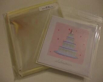 AF18  100 Clear Envelopes5 7/16 x 5 5/16