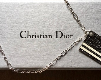 Authentic Christian Dior Dog Tag Necklace ~ By, Renee's Vintage Designs No. 373