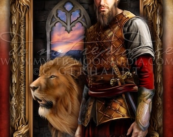 Bravery /  Harry Gift Art / Lion /Nerd Gifts / Nerdy /Chosen One / Wizard / Witch / Magic / Magical / Wizardry