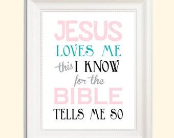 8x10 Jesus Loves Me Digital Print *great for nursery*