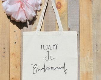 Junior Bridesmaid Bridal Party Wedding Tote Bag Jr. Bridesmaid Gift