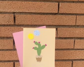 Succulent and cactus, cactus card birthday, succulent card, paper plants, cactus birthday card, happy birthday card, cute birthday card