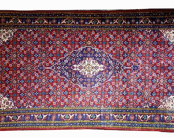4.5 ft x 2 ft Very Fine Hand Knotted Persian Heriz Rug