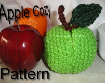 Apple Cozy pattern, crochet pattern, easy gifts to make, personalized gifts, handmade gift pattern