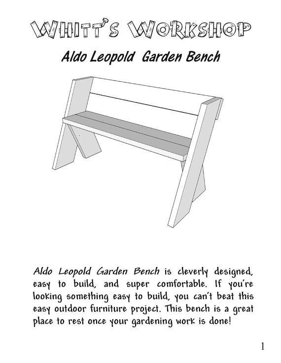 Aldo leopold garden bench pdf file wood plans blueprint from aldo leopold garden bench pdf file wood plans blueprint from whittsworkshop on etsy studio malvernweather Image collections