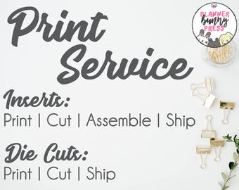 PRINT SERVICE | Printing for Inserts | Customization Options