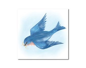 Bluebird 2 Print of Original Acrylic Painting