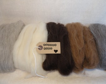 100 grammes-natural un-spun sheeps wool