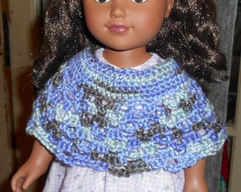PDF American Girl Poncho Crochet Pattern
