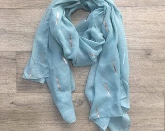 metallic stripe scarf