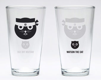 Kung Fu: Watson the Cat Pint Glass