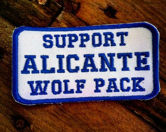 Motorcycle Club Support Patch White Wolf Brotherhood Alicante Diamond Biker