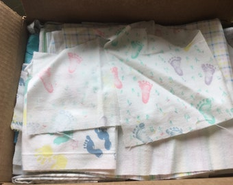 Print flannel scraps grab box