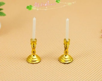 1/12 Scale Dollhouse Miniatures Candle Sticks Set/Doll House Dummy Light