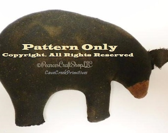 Primitive Bear Pattern, Bear Patterns, Animal Patterns, Primitive Bears, Sewing Patterns, Primitive Animals, Craft Patterns, Black Bears