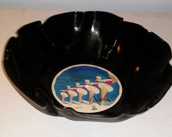 The Go Go's Vacation Vinyl Record Bowl great for chips or popcorn fun unique gift Free Shipping