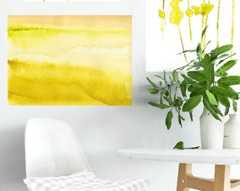 Lovely Hazy, Art Print, Landscape Art Print, Watercolor Print, Watercolor Landscape, Nature Art Print, Modern Minimal, Modern Wall Art, Gift