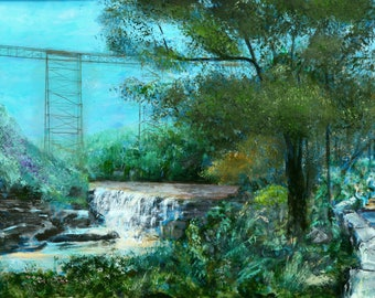 Letchworth State Park painting