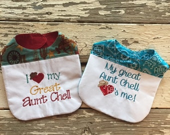 Personalized Baby Bibs - set of two