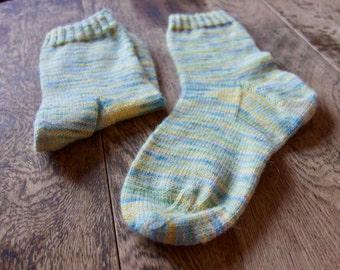 So Hand Made Socks hand knit in hand dyed yarn