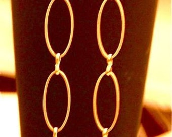 Oval Long Earrings