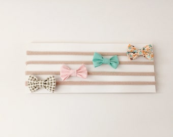 Mini bow headbands, baby headband, small bow headband, newborn headband, baby girl headband