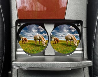 Horse Car Coasters, Cup Holder, Photo Car Coaster, Custom Photo Coaster, Car Accessories, Auto Decor, Car Coasters, Car Cup Holder,