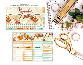Fall I Monthly View Kit for your Erin Condren Life Planner/Happy Planner