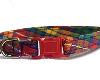 Preppy Red Plaid Cat Collar Breakaway