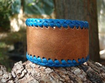 Hand made, unique leather bracelet